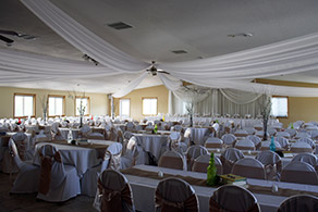 Banquet Facility decorated for a wedding