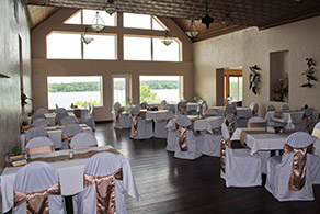 The Hub Banquet Facility & Dining Hall decorated for a wedding